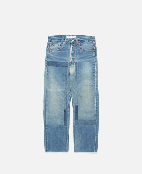 NY Vintage Custom-made Patch Denim (Blue)