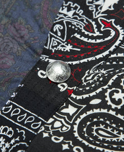 Bandana Patch Work Concho Jacket (Black)