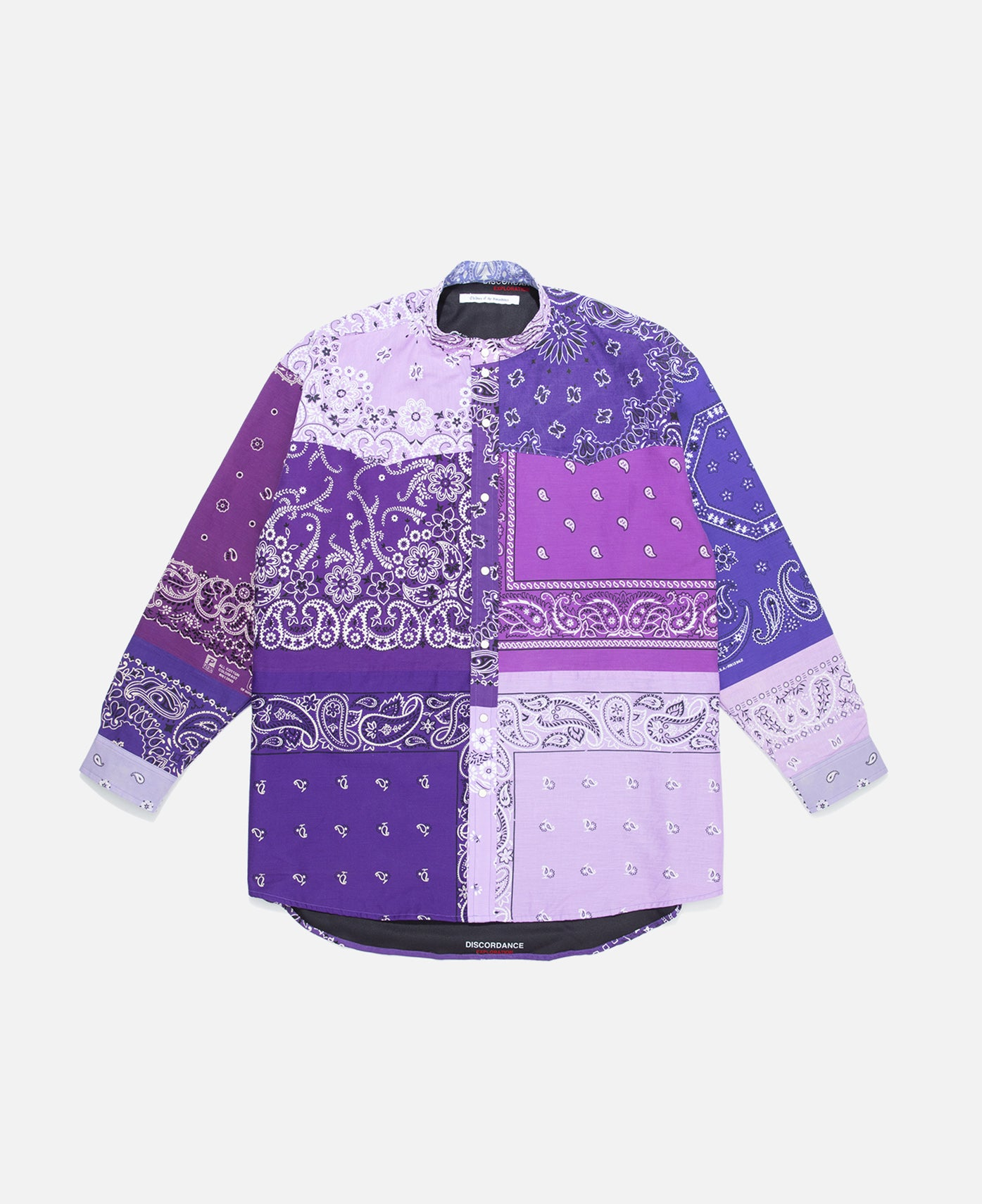 Bandana Patchwork L/S Shirt  (Purple)