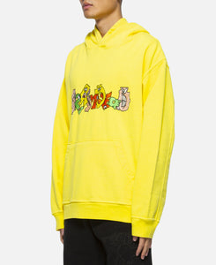 Embroidered Graffiti Hoodie