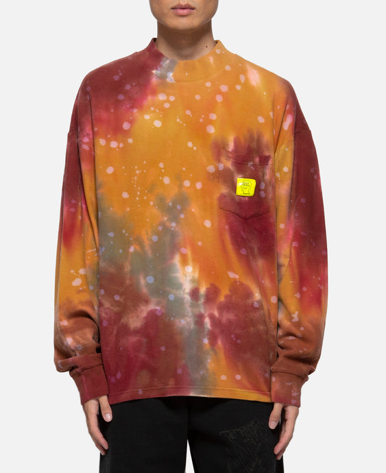 Dyed Pique Mock Neck L/S T-Shirt