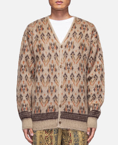 Triangle Mohair Cardigan (Brown)