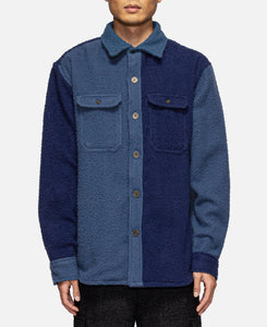 Boiled Wool Overshirt (Navy)