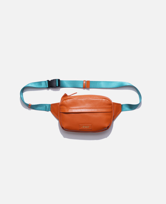 Leather Sidebag (Orange)