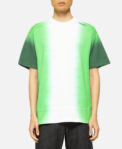 Tie Dye Panelled T-Shirt (Green)