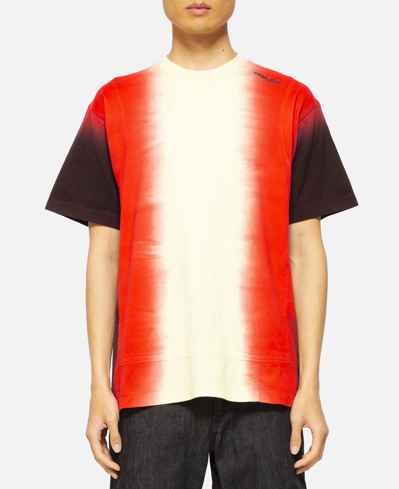 Tie Dye Paneled T-Shirt (Orange)
