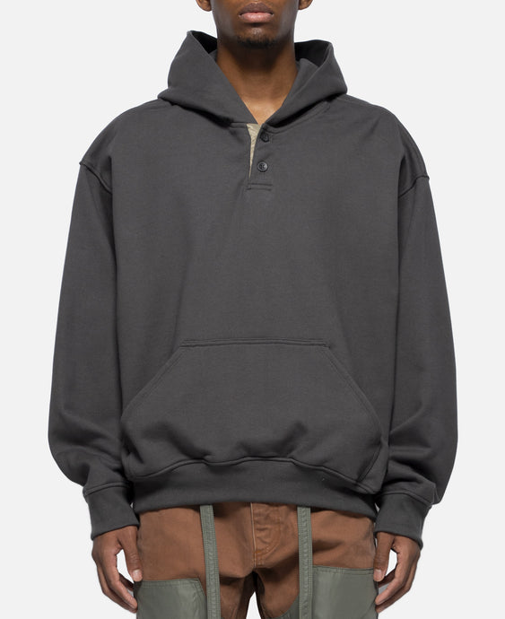 Everyday Henley Hoodie (Grey)