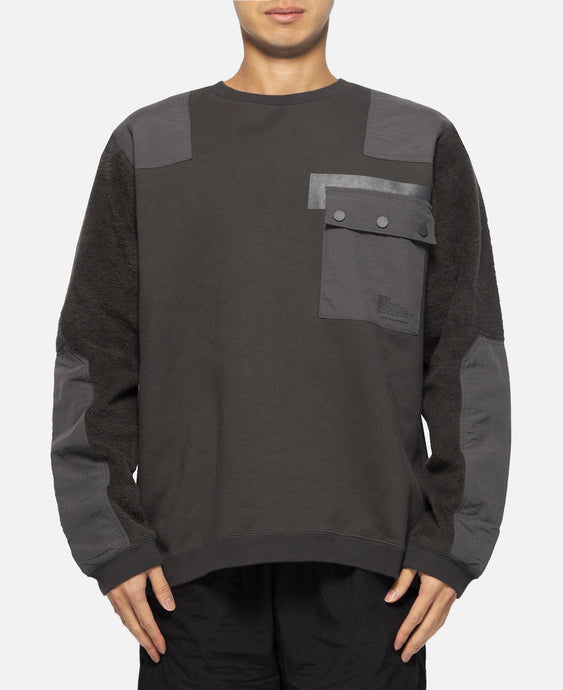Patched Sweatshirt (Charcoal)