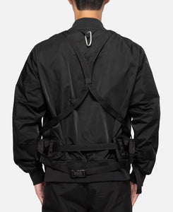 Twill Shoulder Pad Jacket (Black)