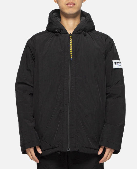 Reversible Plain Fleece Parka (Black)