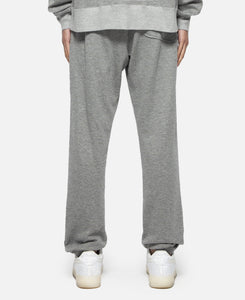 Metallic Weave Drawstring Sweat Pants (Grey)