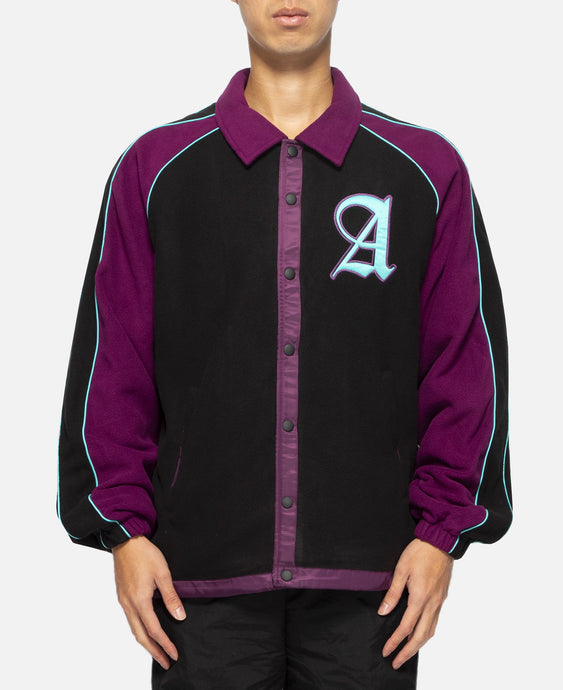 Baseball Fleece Jacket (Black)