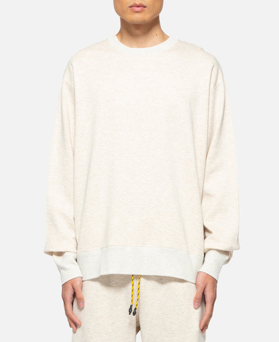 Metallic Weave Sweat Crewneck (Beige)