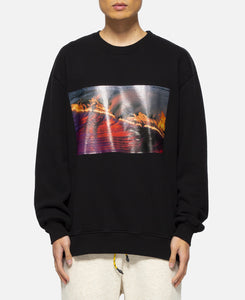 Wavy Flame Crewneck (Black)
