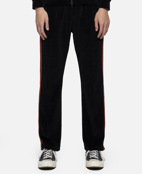 C/PE Velour Narrow Track Pant (Black)
