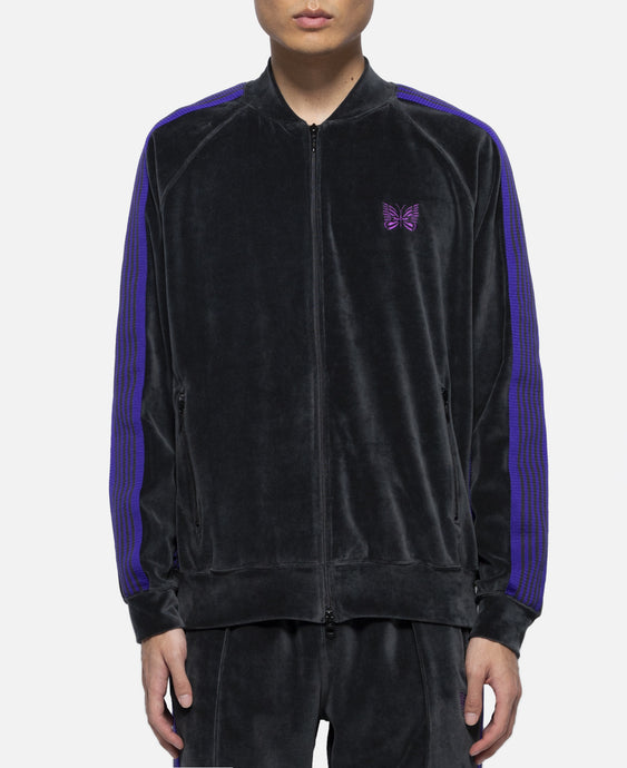 C/Pe Velour Rib Collar Track Jacket