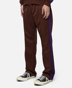 Poly Smooth Narrow Track Pant (Brown)