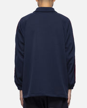 Poly Smooth Side Line Coach Jacket (Navy)