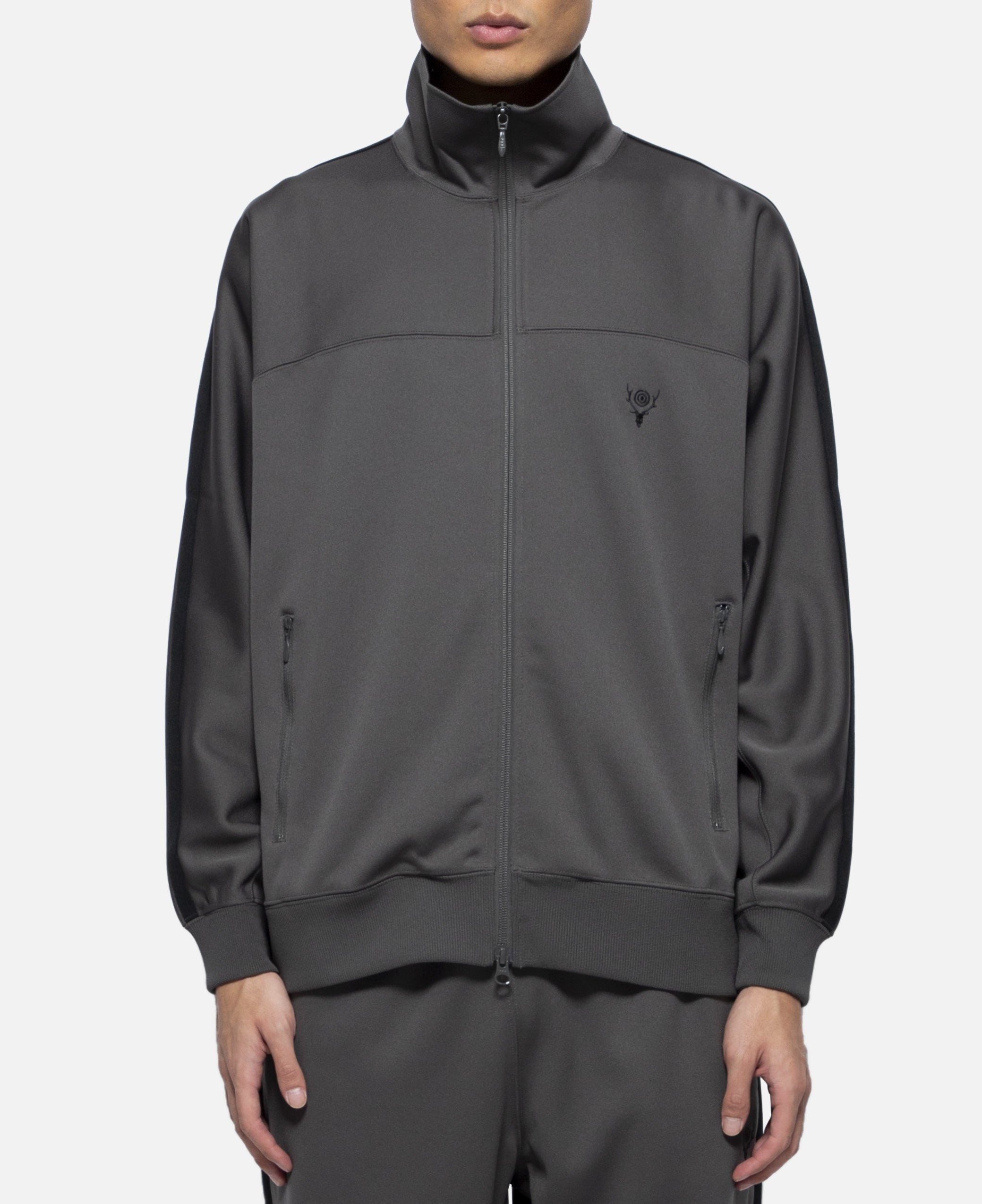 Poly Smooth Trainer Jacket (Charcoal)
