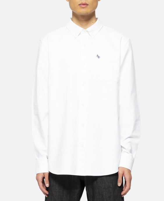Solid Oxford Shirt (White)