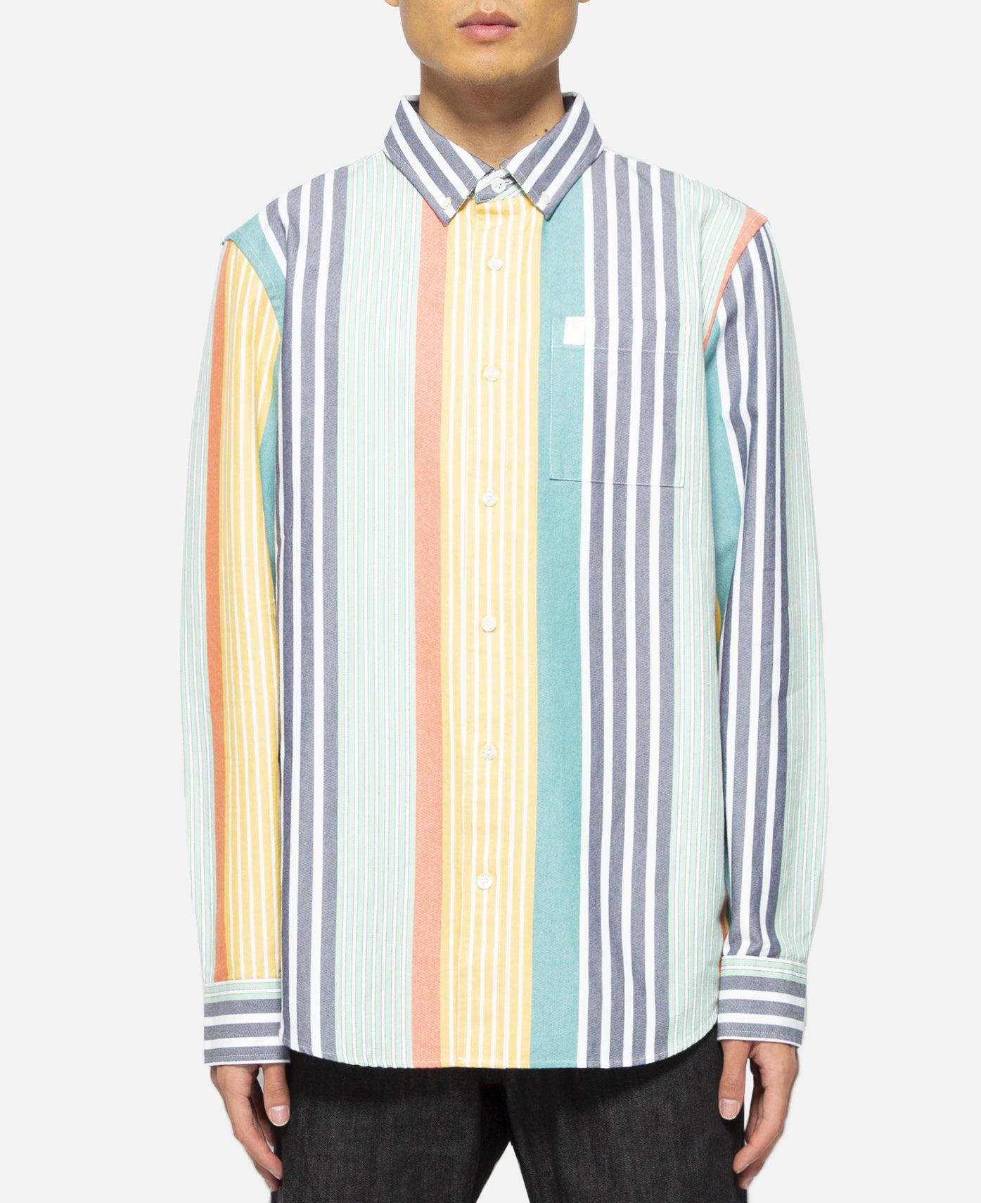 Thin Stripe Oxford Shirt (Yellow)