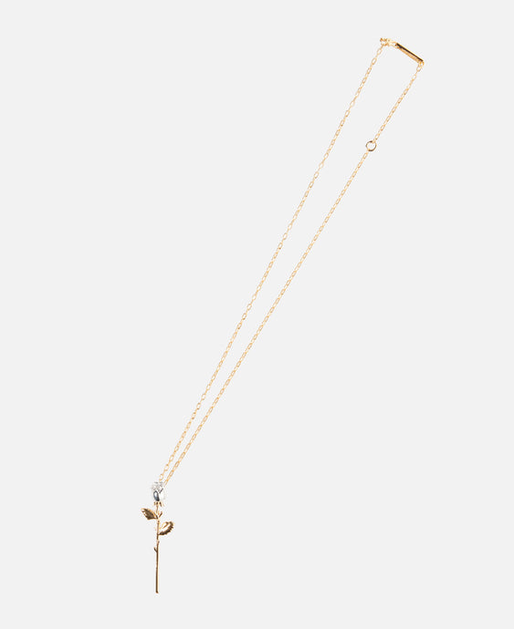 Rose Charm Necklace (Gold)