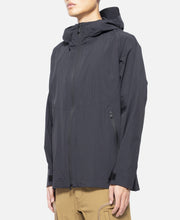 Logo Printed Hooded Parka (Black)