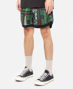 Motherboard Basketball Shorts (Green)