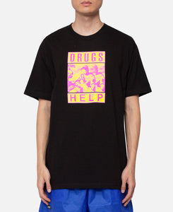 Drugs Help T-Shirt (Black)