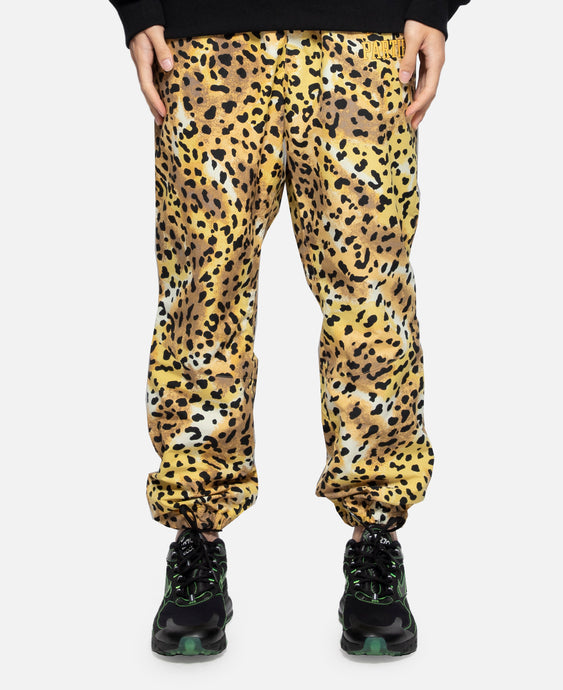 Leopard Track Pants (Yellow)