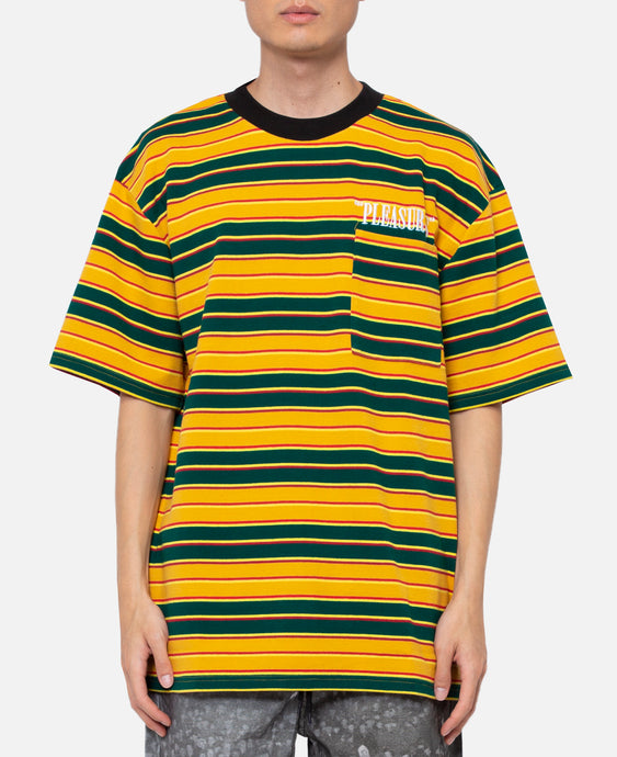 Chainsmoke Stripe S/S Shirt (Yellow)