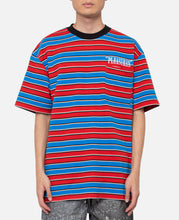 Chainsmoke Stripe S/S Shirt (Blue)