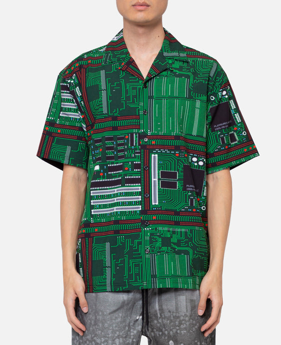 Motherboard Rayon Shirt (Green)