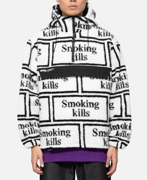 Smoking Kills Boa Anorak (White)