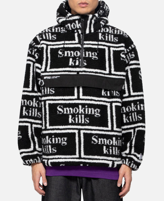 Smoking Kills Boa Anorak (Black)