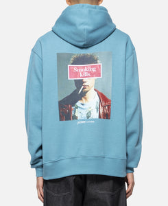 Smoking Kills Photo Hoodie (Blue)