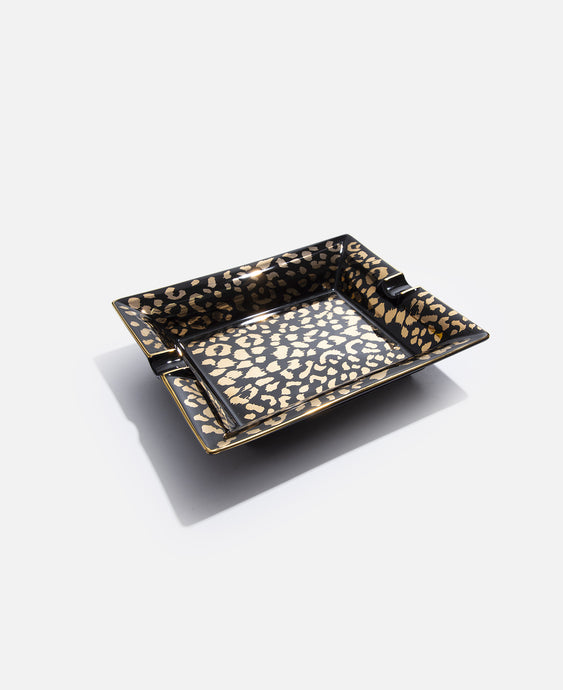 Leopard Ashtray Type-2 (Black)