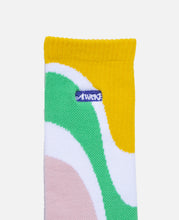 Marble Stripe Logo Socks (Green)