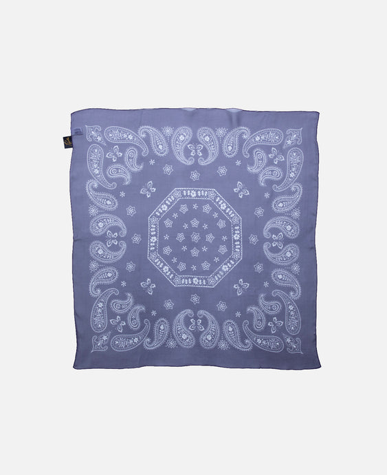 Silk Bandana Scarf (Purple)