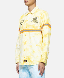 Tie Dye L/S Work Shirt (Yellow)