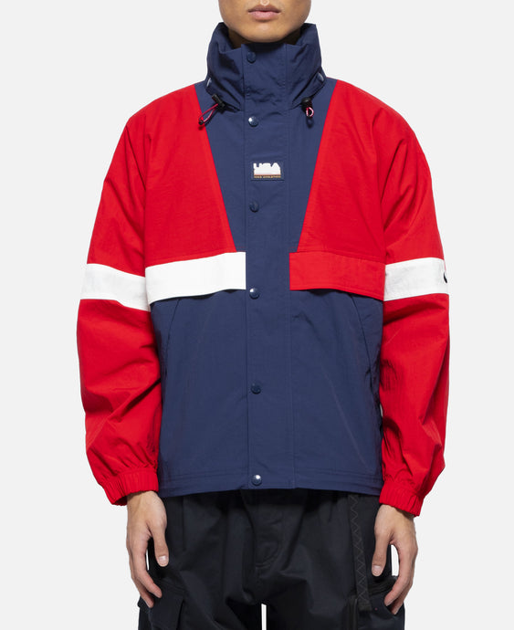 Swoosh Stripe Jacket (Red)