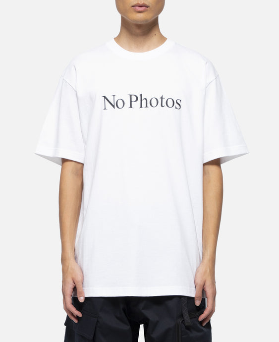 No Photo Reflector T-Shirt (White)