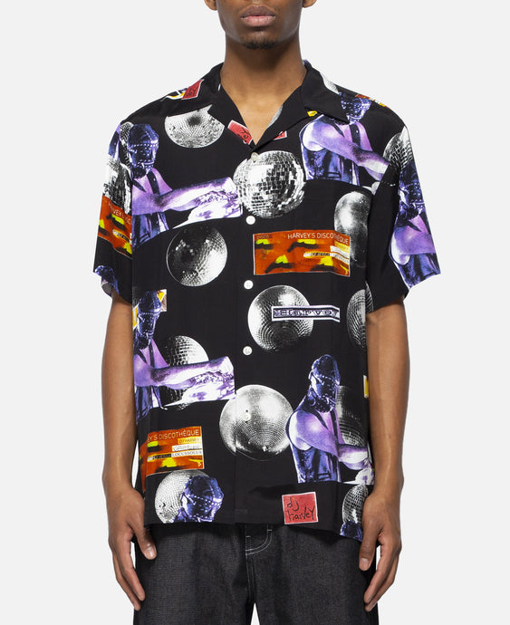DJ Harvey / S/S Hawaiian Shirt (Black)