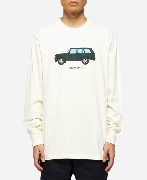 L/S Car Graphic T-Shirt (Cream)