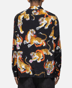 Tim Lehi / L/S Hawaiian Shirt (Type-1) (Black)