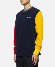 Fleece Colorblocked L/S T-Shirt (Navy)