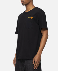 Over Size Crew Neck Pocket T-Shirt Type-2 (Black)