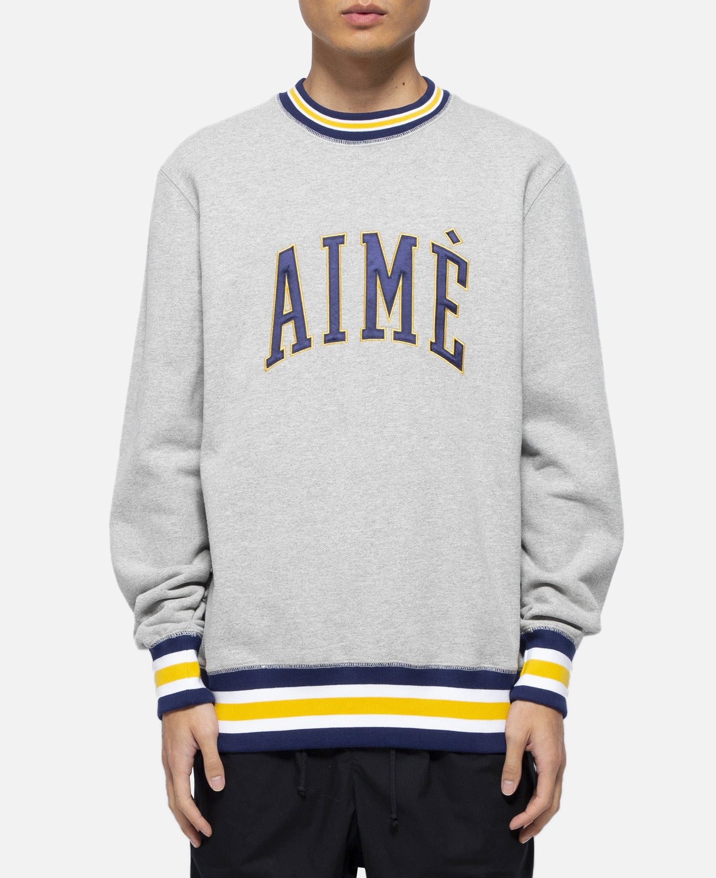 20oz Terry Collegiate Crewneck (Grey)
