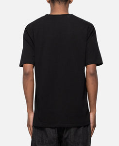 Washed Heavy Weight Crew Neck T-Shirt Type-2 (Black)
