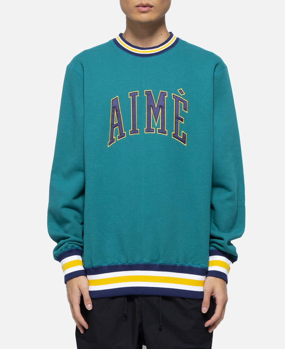 20oz Terry Collegiate Crewneck (Green)
